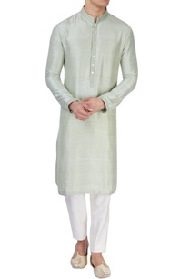 pista-green-silk-kurta