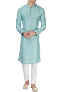 light-blue-silk-kurta