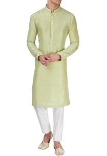 light-green-silk-kurta