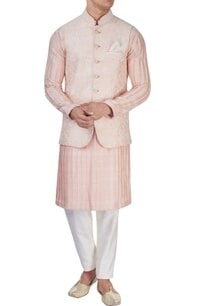 peachy-pink-embroidered-bandi-jacket