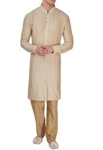 beige-raw-silk-textured-kurta