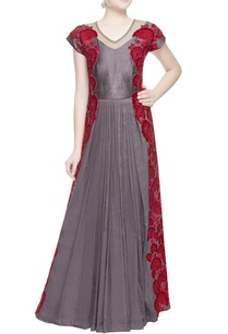 charcoal-grey-applique-print-anarkali