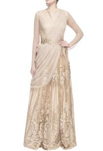beige-swarovski-embroidered-sari-gown