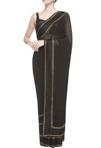 black-swarovski-embroidered-sari