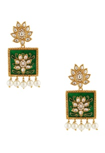 green-white-meenakari-earrings