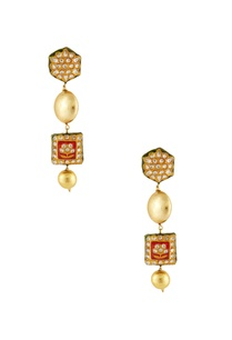 red-meenakari-dangling-earrings