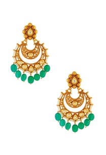 green-white-kundan-jali-earrings