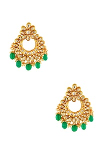 gold-plated-green-kundan-earrings