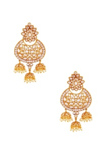 gold-white-jhumka-earrings
