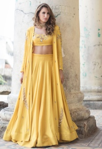 mustard-yellow-lehenga-with-blouse-jacket