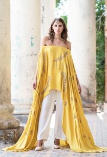 mustard-yellow-cape-palazzo