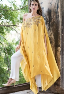 mustard-yellow-drop-shoulder-cape-with-palazzo
