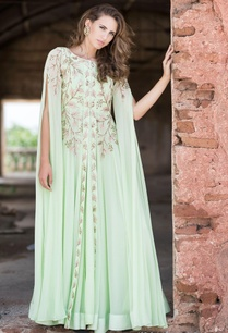 mint-green-anarkali-cape-jacket