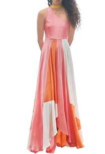 orange-pink-white-hand-painted-dress