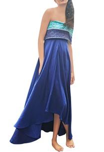 blue-sea-green-high-low-printed-dress