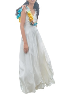 white-long-dress-with-colorful-pleats
