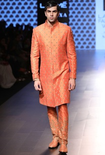 saffron-orange-embellished-sherwani