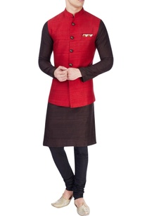 red-bird-print-nehru-jacket