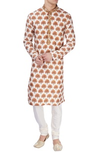 white-tree-printed-kurta-set