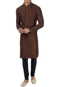 black-tree-print-kurta-set