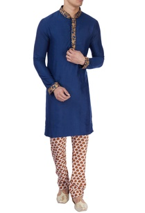 royal-blue-gold-aari-work-kurta