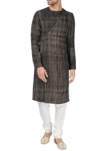 black-kurta-with-drape-on-the-back