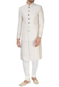 ivory-textured-sherwani