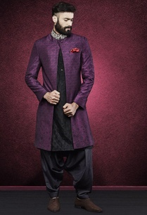 purple-ethnic-print-sherwani