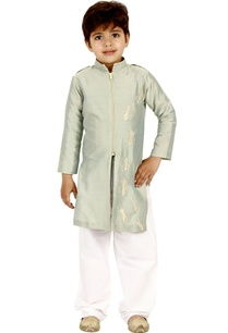 mint-green-zipper-kurta-set