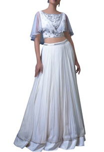 white-embellished-cape-blouse-and-skirt