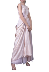 blush-pink-draped-panel-dress