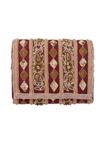 brown-sequin-bead-embellished-clutch