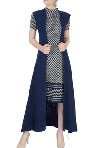 navy-blue-hand-woven-long-jacket