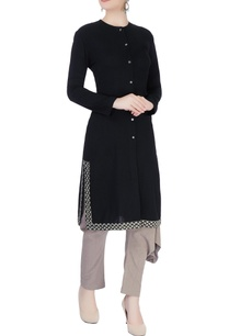 black-straight-organic-cotton-kurta