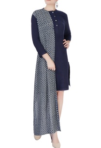 navy-blue-dress-with-attached-drape