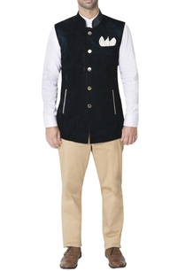navy-blue-velvet-nehru-jacket