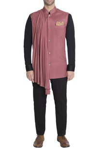 rose-pink-pleated-nehru-jacket