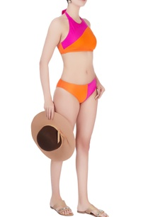 pink-orange-tie-up-swimsuit