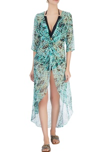 green-abstract-printed-kaftan