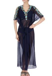 navy-blue-cold-shoulder-kaftan