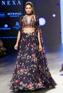 navy-blue-lehenga-crisscross-blouse