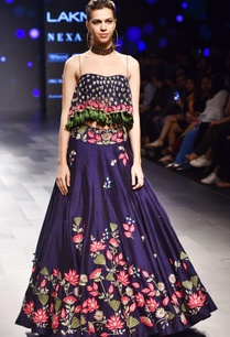 navy-blue-floral-lehenga-with-tassel-blouse
