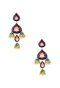 multicolored-jhumka-earrings