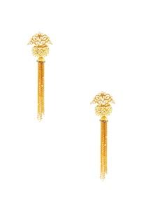 gold-tassel-chain-earrings