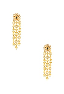 gold-plated-earrings-with-pearl-chain-links
