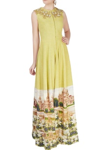 green-printed-anarkali-set