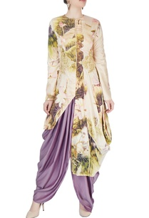 purple-dhoti-pants-printed-kurta