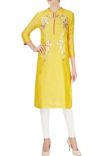 yellow-tunic-with-floral-sequin-work