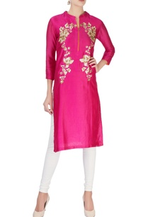 pink-kurta-with-silver-sequin-patches