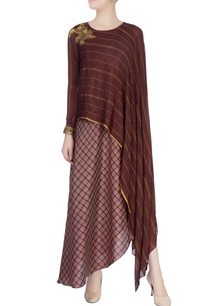 dark-brown-draped-tunic